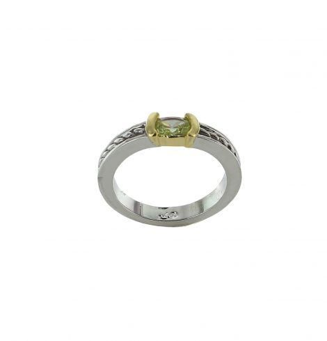 A photo of the Rectangular Gemstone Ring product