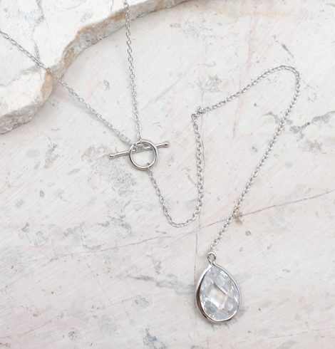 A photo of the Long Crystal Necklace product