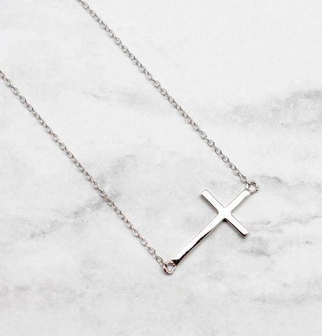A photo of the Plain and Faithful Necklace product