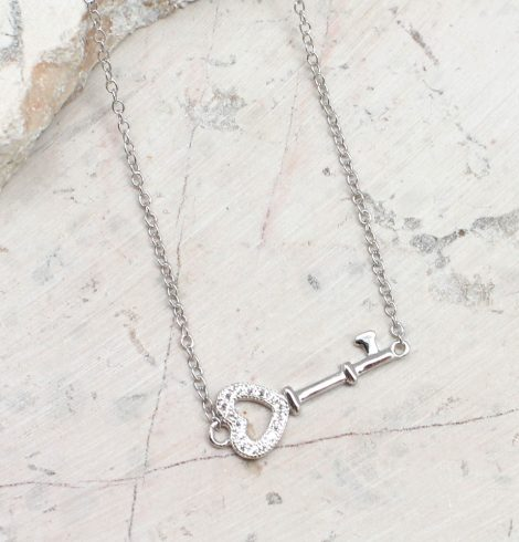 A photo of the The Key Necklace product
