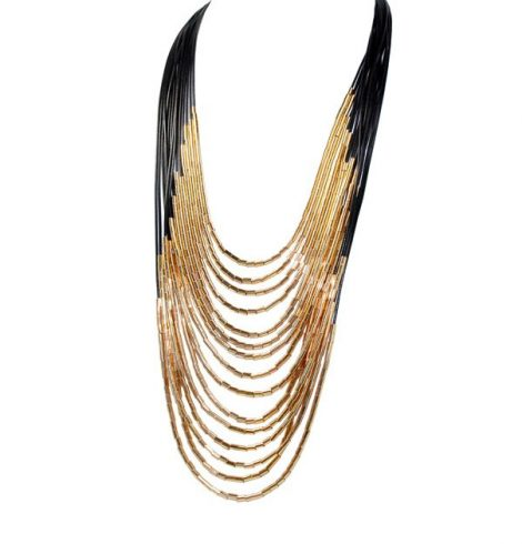 A photo of the Large Gold Accented Magnetic Necklace product