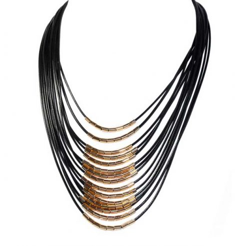 A photo of the Gold Accented Magnetic Necklace product