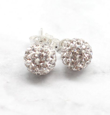 A photo of the White Fireball Studs product