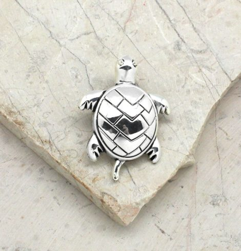 A photo of the Telling Turtle Pendant product
