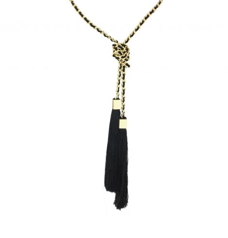 A photo of the Knot Tassel Necklace product