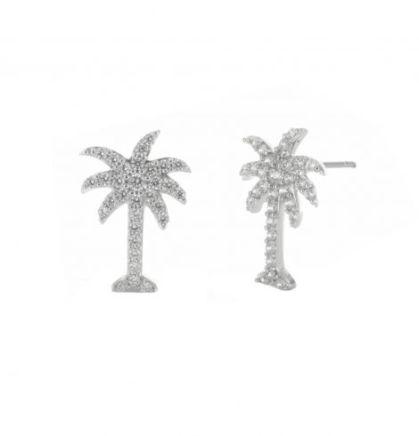 A photo of the Palm Tree Post Earrings product