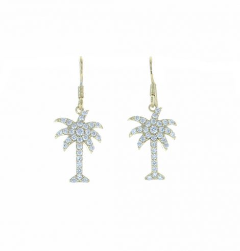 A photo of the Dangle Palm Tree  Earrings product