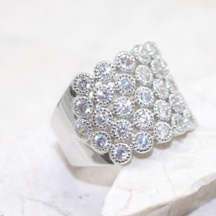 A photo of the Rhinestone Sea Ring product