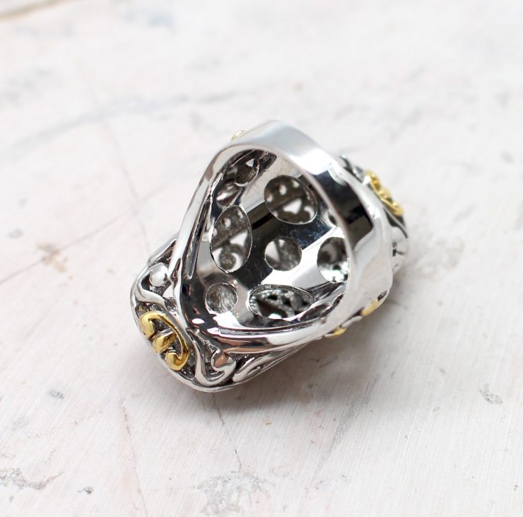 A photo of the Scroll Queen Ring product