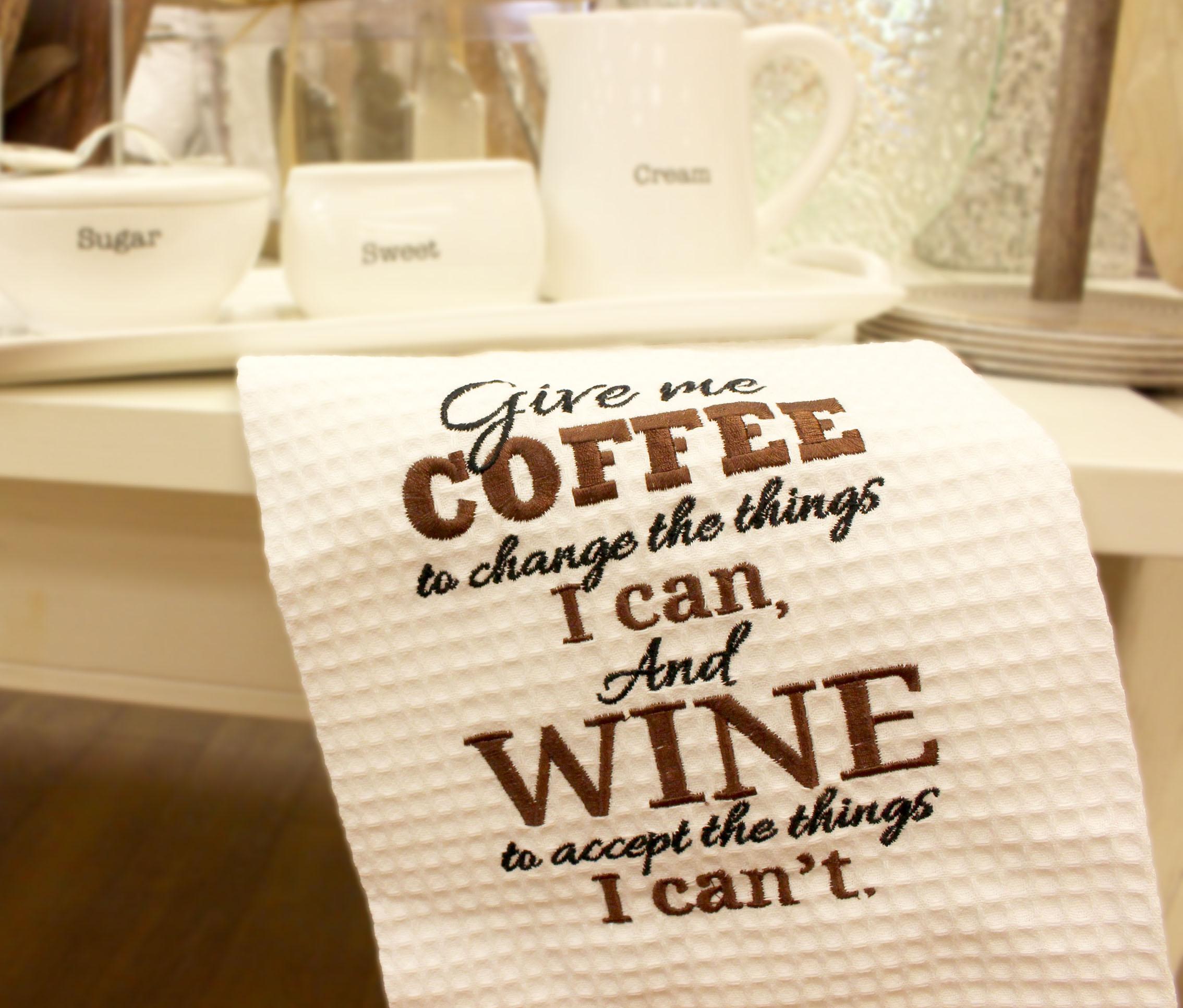 Coffee Wine Kitchen Towel
