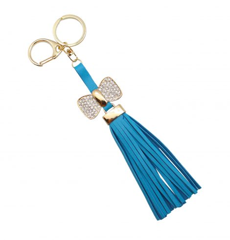 A photo of the Long Leather Tassel Keychain product