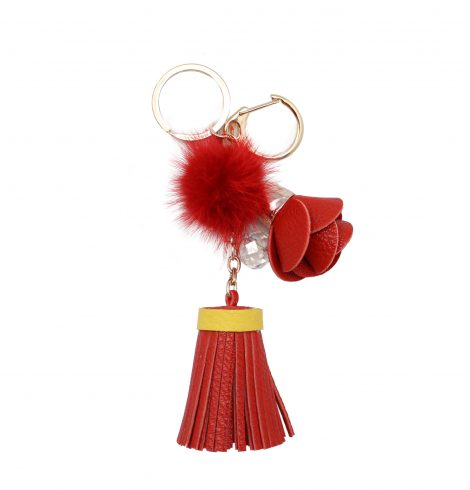 rose_tassel_keychain_red