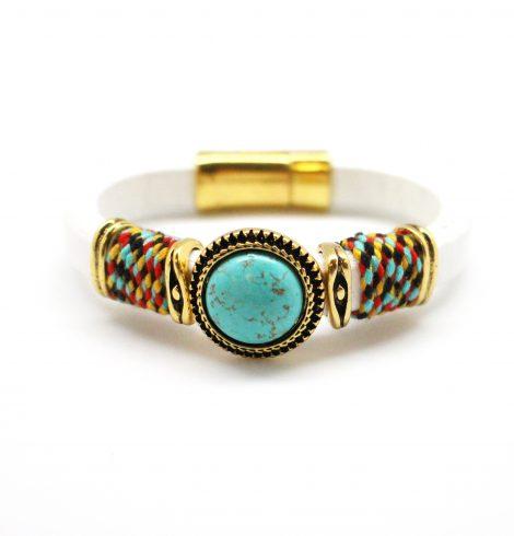 turquoise_gem_white_magnetic_bracelet