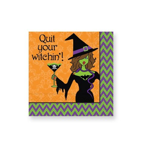 """A photo of the """"Drink Up Witches!"""" Beverage Napkins product"""