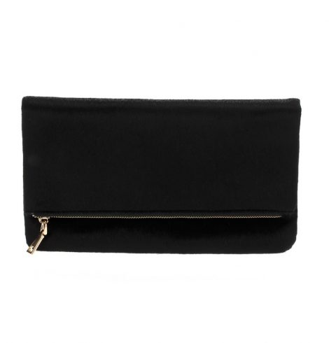 faux_fur_foldover_clutch_black