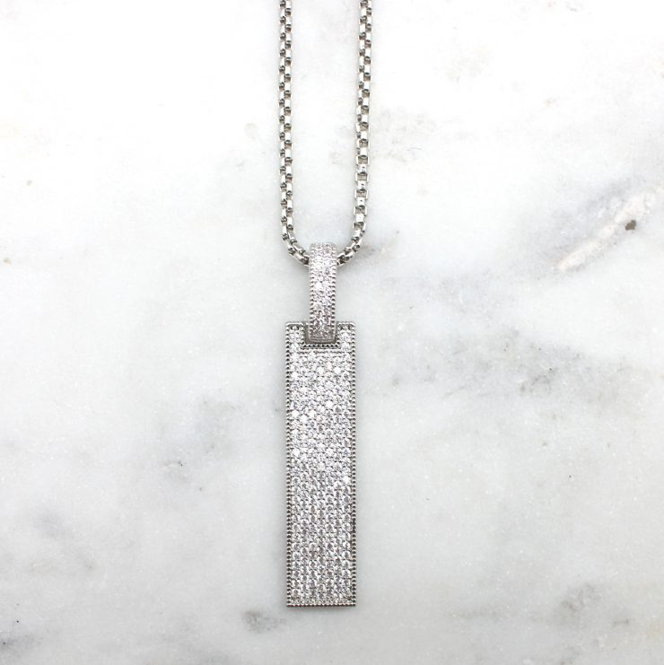 A photo of the Bar Drop Necklace product
