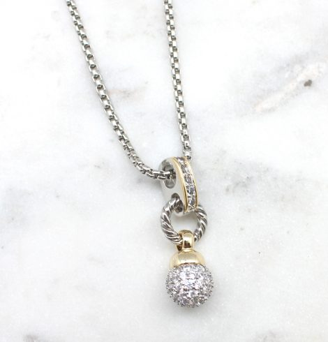 A photo of the Fire Ball Drop Necklace product