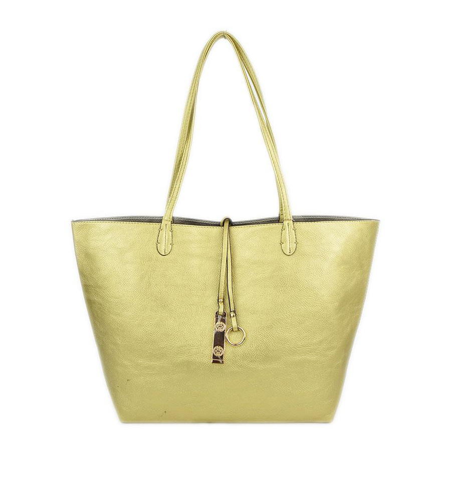 d9fb3407 Gold & Silver Reversible Tote