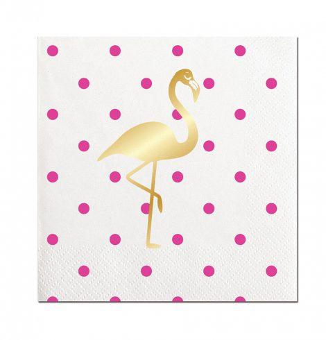 gold_flamingo_polkadotted_ napkin