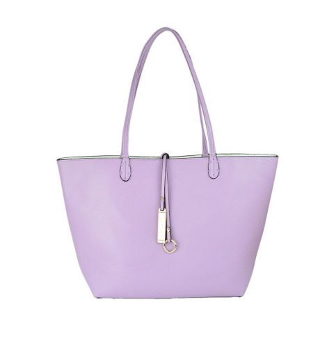 A photo of the Light Purple & White Reversible Tote product