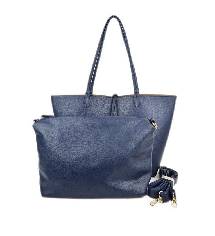 A photo of the Navy & Khaki Reversible Tote product
