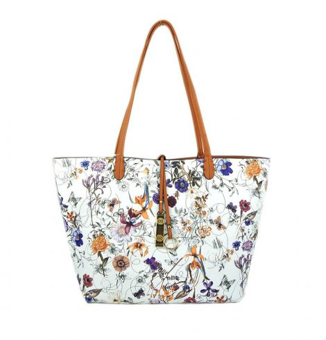 A photo of the Tropical Garden & Camel Reversible Tote product