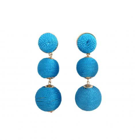 A photo of the Post Thread Ball Earrings product