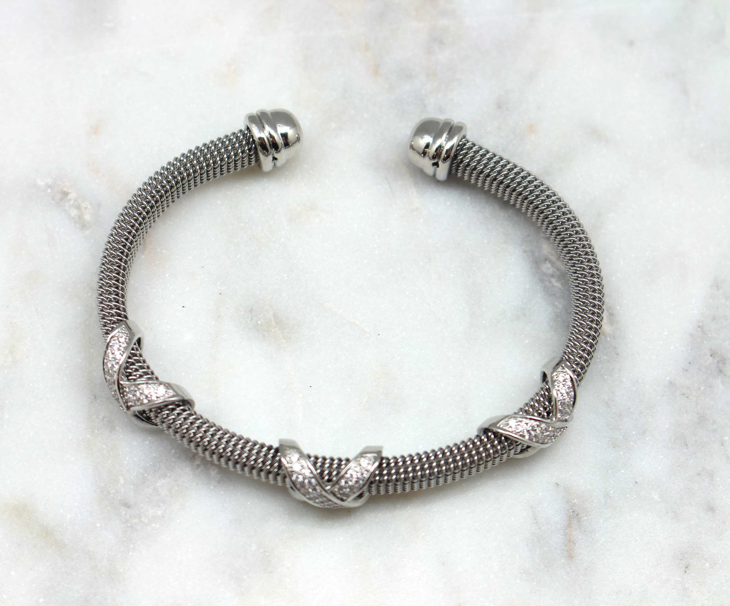 rhinestone x cuff bracelet best of everything online shopping