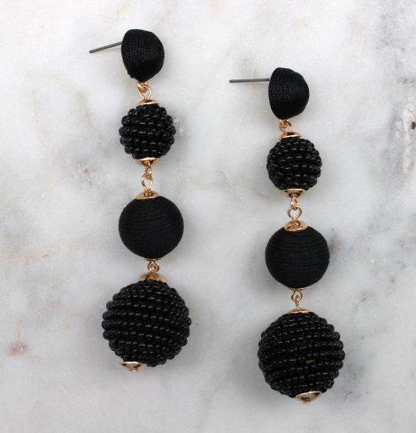 bead_&_thread_ball_earrings_black
