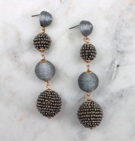 bead_&_thread_ball_earrings_silver