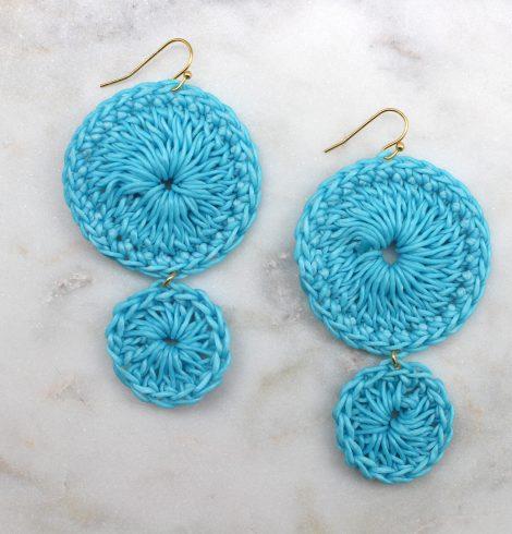 double_circle_crochet_Earrings_blue