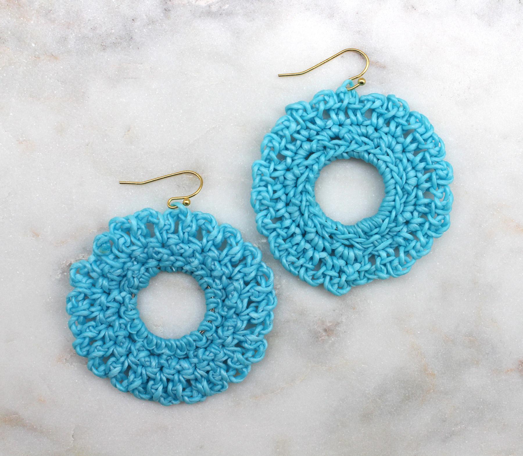 Crochet Hook Earrings: Round Crochet Earrings - Best Of Everything