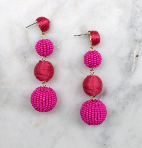 small_bead_&_thread_ball_earrings_gold