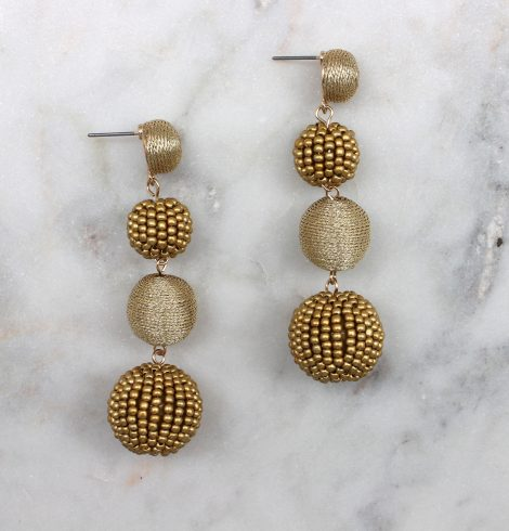 small_bead&thread_ball_earrings_light_gold