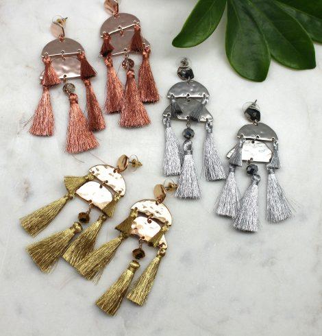 Aztec Statement Tassel Earrings All