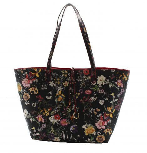 Black Red Floral Reversible
