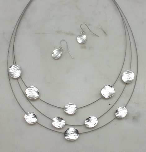 Disc-o All Night Necklace Silver
