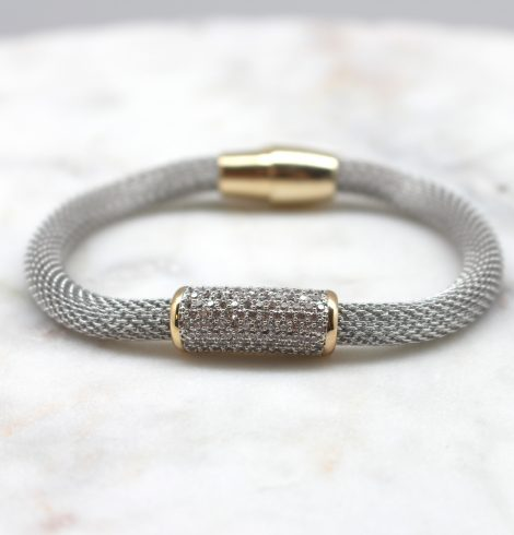 A photo of the Magnetic Rhinestone Bar Bracelet product