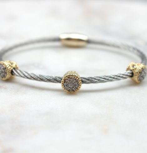 Magnetic Two Tone Bangle