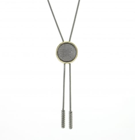 Pave Adjustable Circle Pendant_Necklace