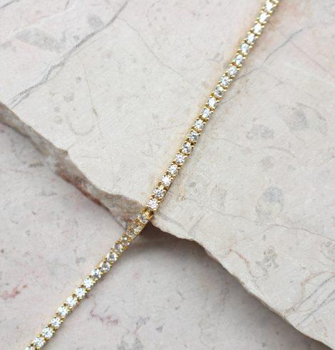 All Around CZ Bracelet Gold