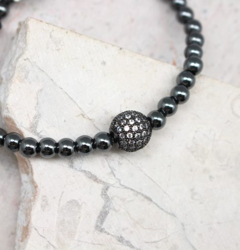 black_beaded_fireball_bracelet