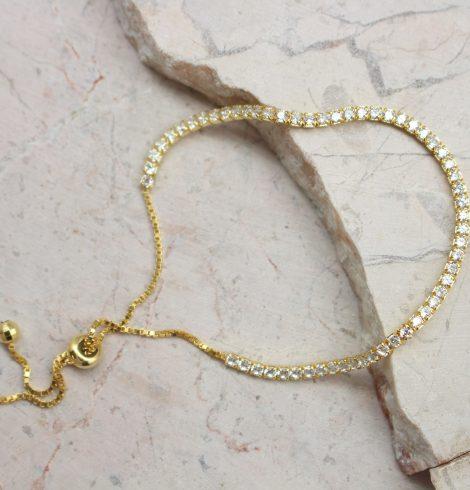 CZ Gold Adjustable Bracelet