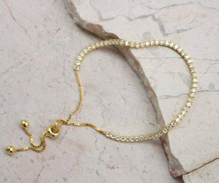 A photo of the Adjustable Rhinestone Bracelet product