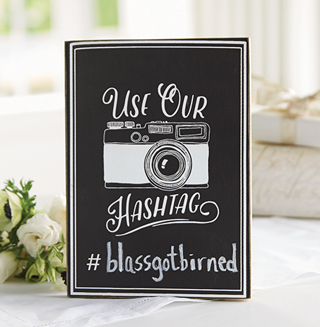 A photo of the Hashtag Chalkboard Sign product