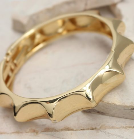 On The Edge Gold Bangle