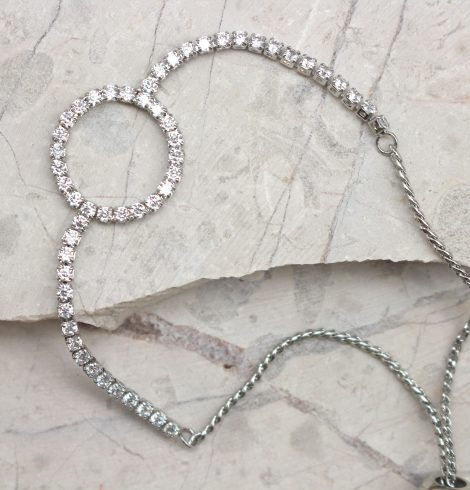 A photo of the Rhinestone Loop Bracelet product
