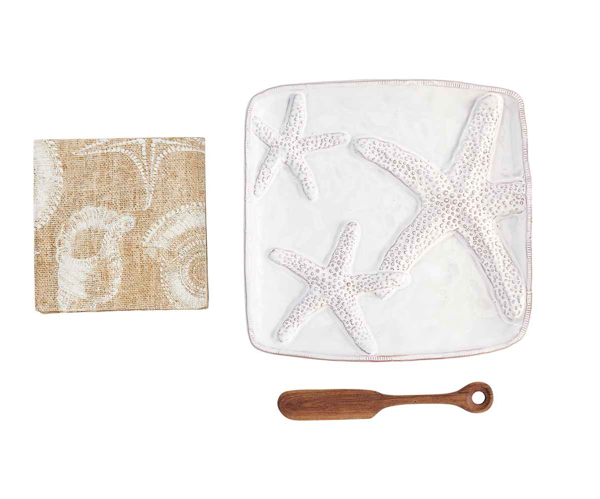 Starfish Cheese Plate Set Best Of Everything Online