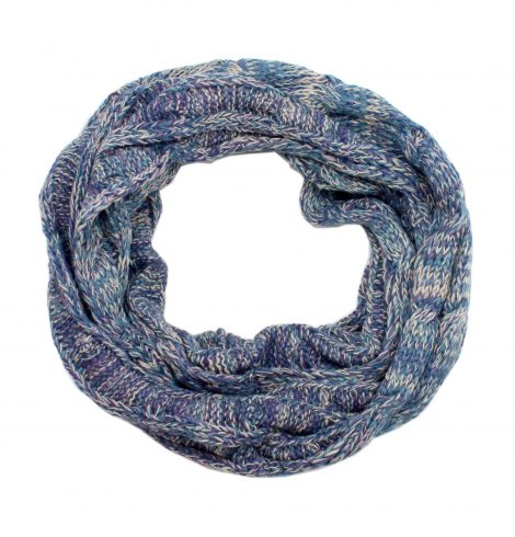 A photo of the Charming Cable Knit Infinity Blue product