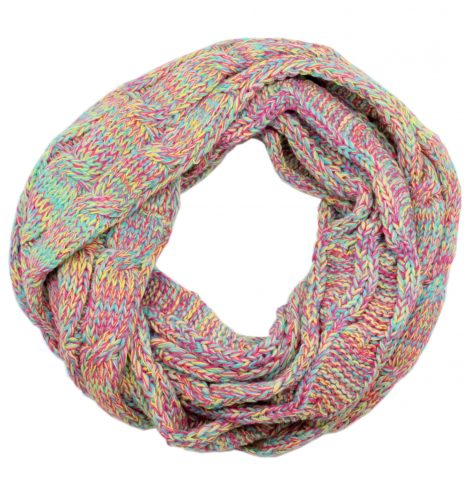 A photo of the Charming Cable Knit Infinity Scarf Multi Color product